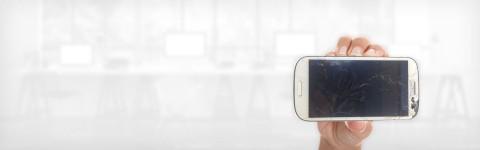 Смяна  на счупени стъкла iPhone и  Samsung